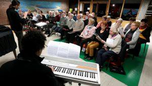 Une répétition de la Chorale Orphée de Tourcoing